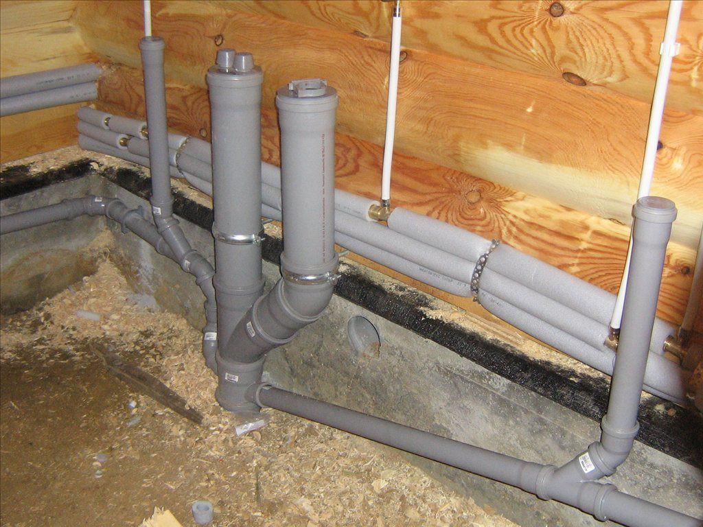 Разводка труб канализации по дому своими руками